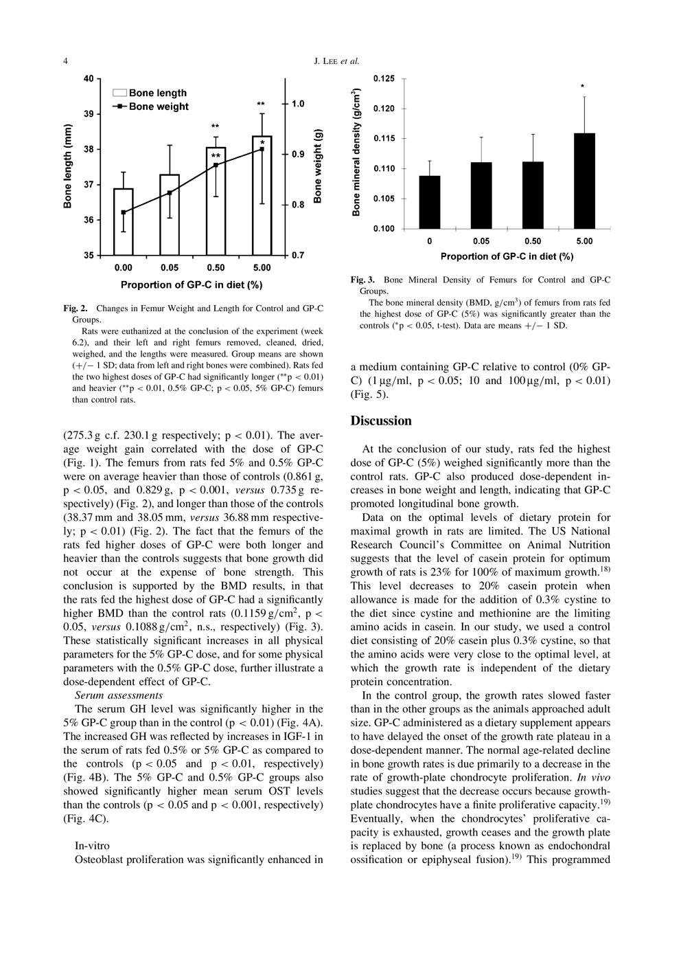 初乳による人間の骨の成長と発達を促進する可能性 P4